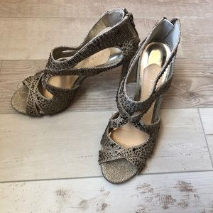Gianni Bini Gold Embellished Heels